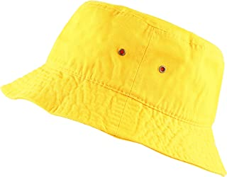 cb276a7c56175 THE HAT DEPOT 300N Unisex 100% Cotton Packable Summer Travel Bucket Beach  Sun Hat