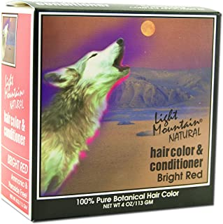 Best Light Mountain Natural Hair Color and Conditioner Kit Bright Red 4 oz Review