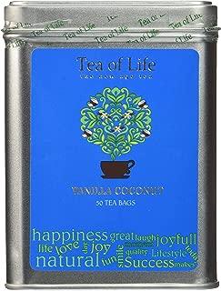 Tea of Life Square Tin - 50 Bags (Vanilla Coconut)