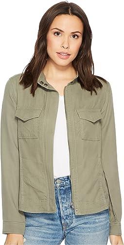 Liverpool - Anorak Shirt Jacket in Textured Tencel