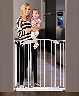 Dreambaby Chelsea Extra Tall Auto Close Security Gate in White with Extensions