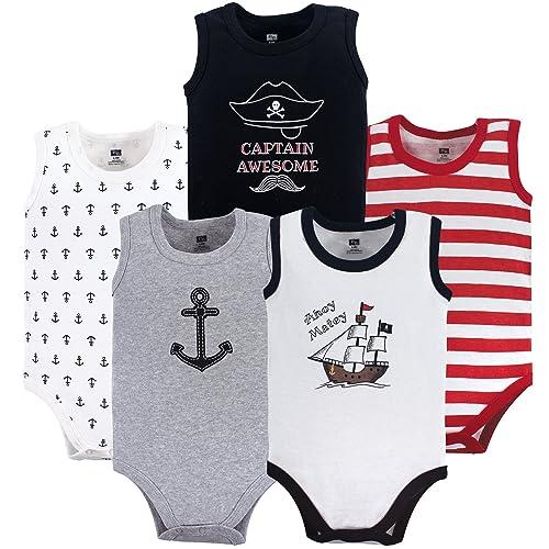 f1e426d61 Hudson Baby Sleeveless Bodysuits Boy 5-Pack