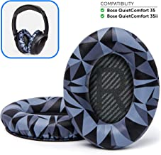 Wicked Cushions Premium Bose QuietComfort 35 Replacement Ear Pads - Compatible with Bose QC35 & QC 35 ii | Geo Grey