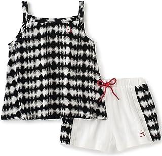 Calvin Klein Girls 2 Piezas Bebop Short Sets