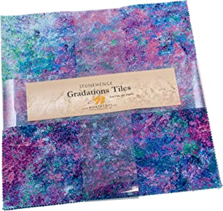 Linda Ludovico Stonehenge Gradations Mixers Brights Tiles 42 10-inch Squares Layer Cake Northcott