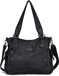 کیف دستی کیف دستی زنانه کیف دستی چند جیب جیب چند جیب کیف شانه خانمهای خیابانی PU Tot Satchel کیسه های مخصوص زنان