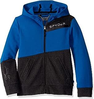 Spyder Boys 2570H64025-40-PC Double Knit Full Zip Hooded Logo Jacket