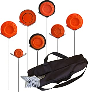 Clay Pigeon Target Holders Pack of 20 with Carry Bag - Will Fit Any Clay Targets - Made in USA