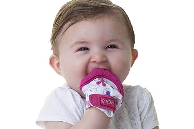 Nuby Soothing Teething Mitten with Hygienic Travel Bag e9c3ccacb