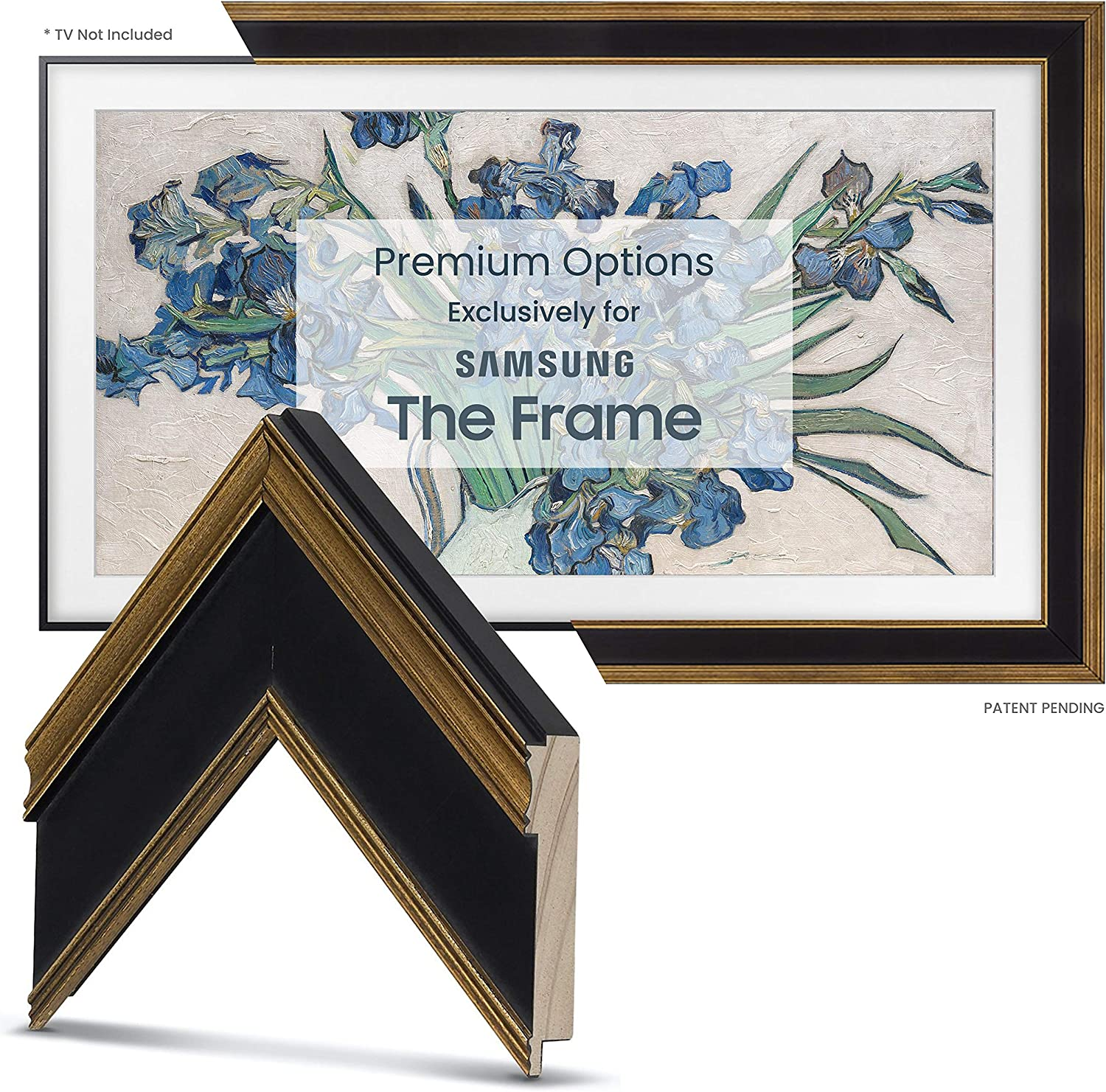 Deco TV 67% OFF of fixed price Frames - Antique Gold 100% quality warranty Smart Black Frame ONL Compatible