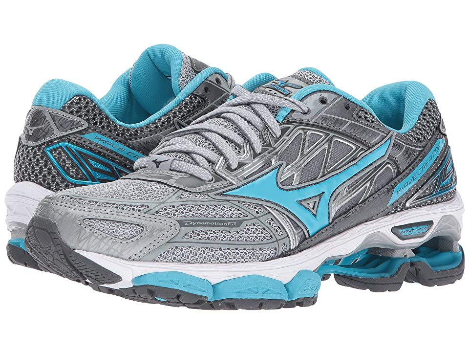 Mizuno Wave Creation 19 (High-Rise/Blue Atoll/Castlerock) Girls Shoes