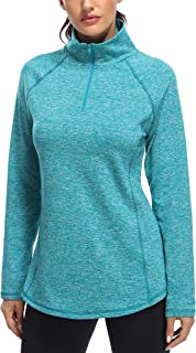 Sponsored Ad - Miusey Womens Quarter Zip Running Pullover Jackets Long Sleeve Workout Tops