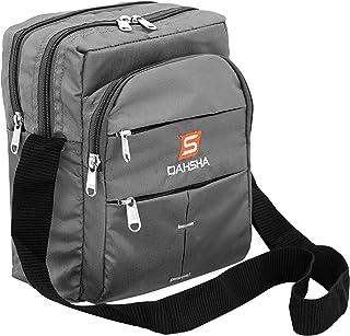 DAHSHA Nylon 6 Multi Pocket Sling Cross Body Travel Office Business Messenger one Side Shoulder Bag for Men & Women-(25 x ...