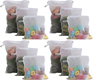 Beddify Set of 12 Premium Reusable Fridge Storage Bag for Vegetables and Fruits with Zipper (4 Small, 4 Medium & 4 Large S...