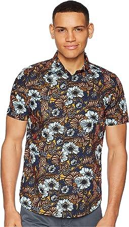 Ben Sherman Short Sleeve Psychedelic Floral Shirt