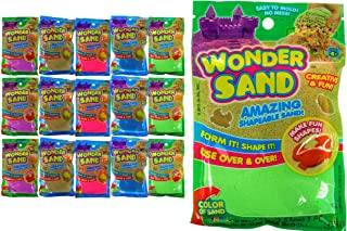 JA-RU Wonder Sand Like Kinetic Mad Molding Magic Play Sand Toy Kit (1 Pack Assorted Color) Therapy Magic Sensory Toys Stre...
