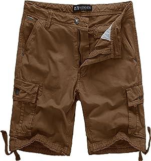 85b271f1 WenVen Men's Cotton Twill Cargo Shorts Outdoor Wear Lightweight