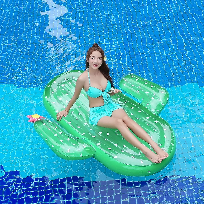 mnjndn水泳エアクッションベッド水インフレータブルフローティングベッドCactus
