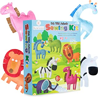 Sewing Kit for Kids: Korium 40 Piece Beginner Sewing Kits for Girls and Boys - Craft Kit For Kids Easy Kids Sewing Kit DIY Girls Felt Stuffed Animals - Premium Craft Supplies Arts and Crafts for Girls