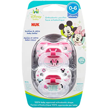 X 2 packs NUK 0//6 Soother//Dummy  Disney Pooh Design Silicone