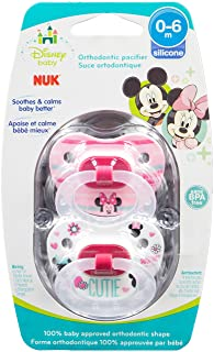 NUK Disney Baby Puller Pacifier, 0-6 Months, Girl/Minnie Mouse, 1 pk