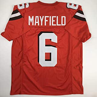 Unsigned Baker Mayfield Cleveland Orange Custom Stitched Football Jersey Size Men's XL New No Brands/Logos