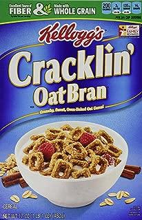 Kellogg's, Cracklin' Oat Bran, 17oz Box (Pack of 4)