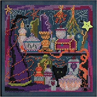 Wanda'S Witchery Autumn Buttons & Beads Counted Cross Stitch-5x5 14 Count