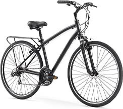 sixthreezero Body Ease Men's 21-Speed Comfort Road Bicycle, Matte Black, 26