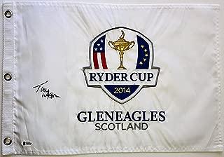 Tom Watson signed 2014 Ryder Cup flag gleneagles beckett coa pga