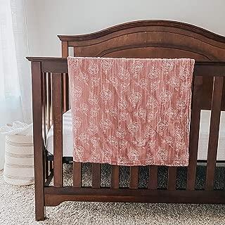 "Sandstone Avenue Newborn Baby Rose Swaddle Blanket - Velvet Blush Pink Soft Cozy Warm Infant Organic Cotton Girl Boy Receiving Throw - 47"" x 47"""