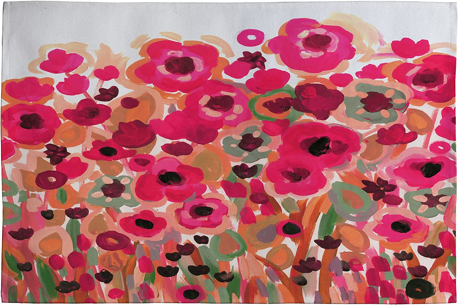 DENY Designs Natasha Wescoat Brightly Blooming Woven Rug, 2 by 3Feet