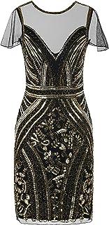 PrettyGuide Women's Flapper Dress Sequin Embellished 1920s Cocktail Gatsby Dress