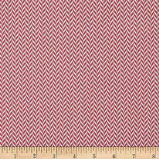 Patrick Lose Fabrics Studio Snow Happy Candy Stripe Fabric, Red, Fabric By The Yard