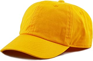 98ad615fe THE HAT DEPOT Kids Washed Low Profile Cotton and Denim Plain Baseball Cap  Hat