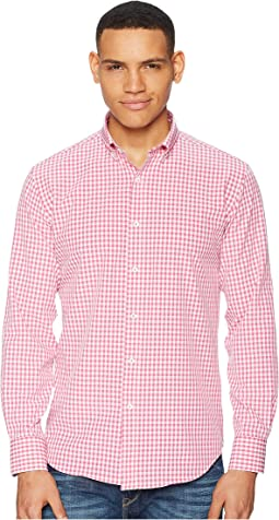 BUGATCHI - Long Sleeve Button Down Collar Woven Shaped