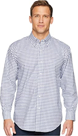Long Sleeve Magnetically-Infused Check Dress Shirt- Button Down Collar