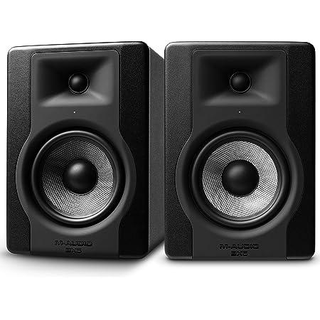 M-Audio - BX5 D3 - Paire de Moniteurs de Studio Pro 100 W 2 Voies avec Woofer 5 Pouces et Acoustique Space Control Intégré pour Production Musicale - Noir - 2 Pièces
