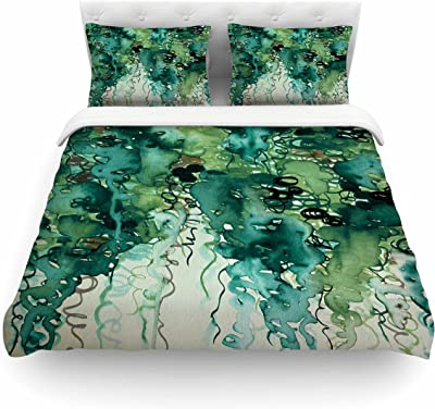 88 x 88 Kess InHouse Suzanne Carter Wild and Free 2 Pink Purple Digital Queen Featherweight Duvet Cover