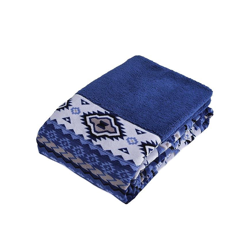 素晴らしい母性泣き叫ぶ西川(Nishikawa) あったか掛けカバー ブルー シングル 洗える 毛布にもなる やわらか ふわふわ もこもも シープ調 MSP-SNG-058-SL