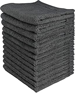 Utopia Towels 600 GSM Washcloths, 12 Pack, Grey
