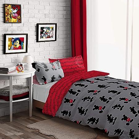 Mickey Mouse Disney Set Copripiumino Singolo Pops Of Red Amazon It Casa E Cucina