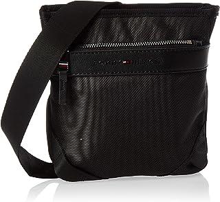 Tommy Hilfiger Unisex Elevated Nylon Mini Crossover Coin Purse Shoulder Bag, Color: Black