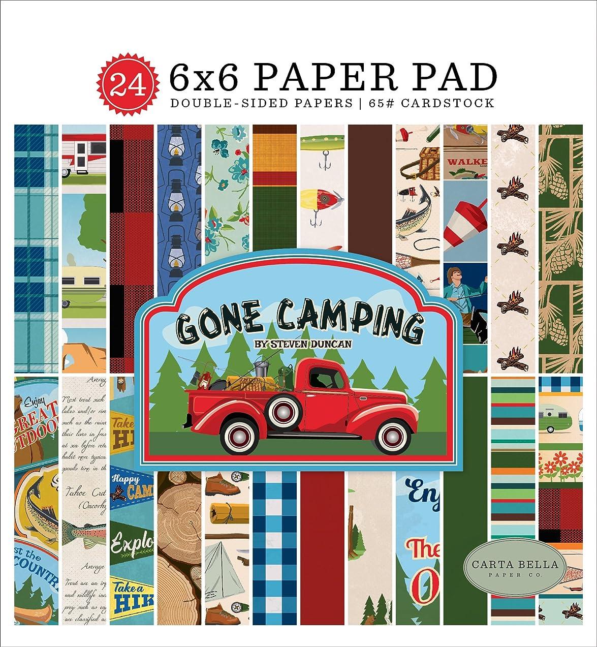 Carta Bella Paper Company CBGC85023 Gone Camping 6x6 Pad Paper, 6 x 6
