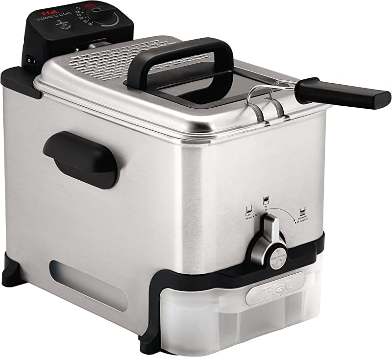 T Fal Deep Fryer With Basket Stainless Steel Easy To Clean Deep Fryer Oil Filtration 2 6 Pound Silver Model FR8000