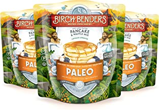 Paleo Pancake and Waffle Mix by Birch Benders, Low-Carb, High Protein, High Fiber, Gluten-free, Low Glycemic, Prebiotic, Made with Cassava, Coconut and Almond Flour, 3-pack (42oz each)