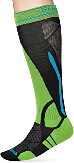 Bridgedale, Ski LWS Calcetines, Unisex Adulto, Negro/Verde, Talla Única
