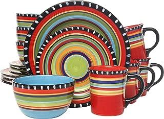 Gibson Elite Pueblo Springs 16-Piece Dinnerware set, Mutli-color
