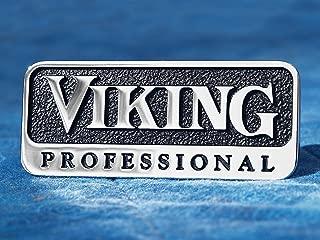 Viking Professional Metal Emblem (3 inch with Adhesive Back)