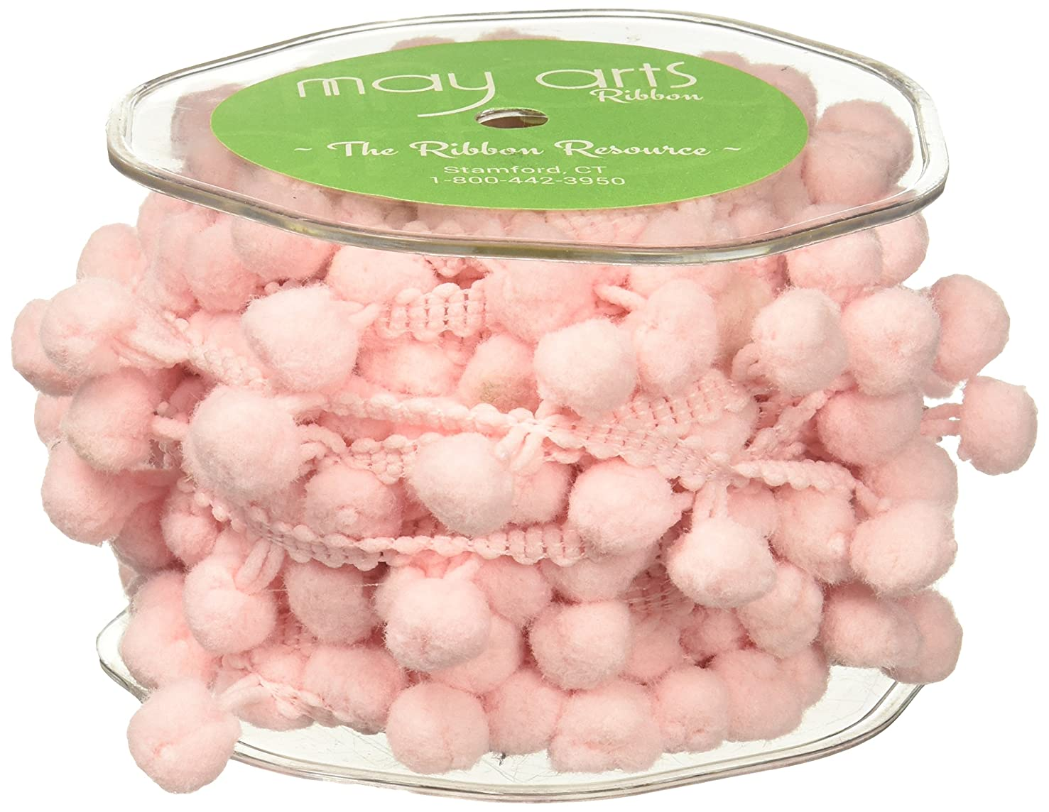 May Arts Jumbo Pom Pom, 1/2-Inch by 10-Yard, Pink